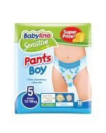 ΠΑΝΑ ΒΡΑΚΑΚΙ BOY PANTS BABYLINO SENSITIVE No 5 (12-18 kg) , 18ΤΕΜ