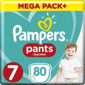 PAMPERS PANTS ΜΕΓ 7 MP, 80TEM.