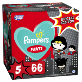 PAMPERS PANTS ΜΕΓ 5 (12-17kg) 1X66 SUPER ΗΡΩΑΣ LIMITED EDITION