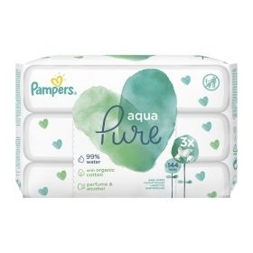 PAMPERS WIPES PURE 3X48