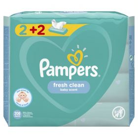 PAMPERS WIPES FRESH CLEAN 4X52 (2+2)