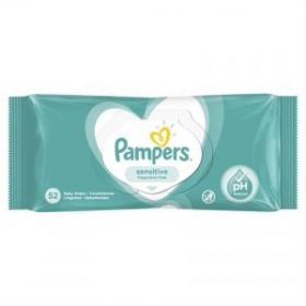 PAMPERS WIPES SENSITIVE 52 ΤΕΜ.