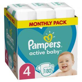 ΠΑΝΕΣ PAMPERS ACTIVE BABY ΜΕΓ 4 1X180 MSB