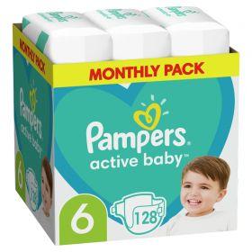 ΠΑΝΕΣ PAMPERS ACTIVE BABY ΜΕΓ6 (13-18kg) 128 MSB