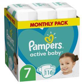 ΠΑΝΕΣ PAMPERS ACTIVE BABY ΜΕΓ7 (15+kg) 116 MSB