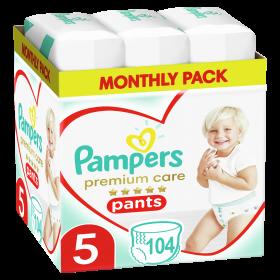 Πάνες Βρακάκι Pampers Premium Care Pants Νο5 (12-17kg) MP 104τμχ