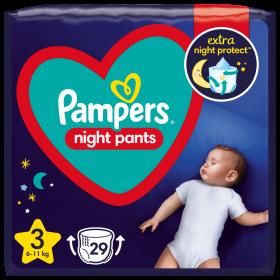 Pampers Night Pants Μέγεθος 3, (6kg-11kg) - 29 Πάνες-Βρακάκι