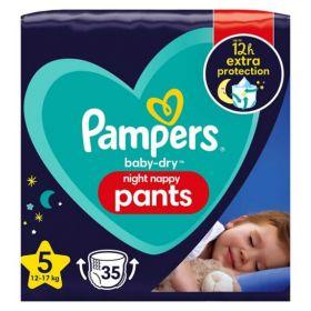 Pampers Night Pants Μέγεθος 5, (12kg-17kg) - 22 Πάνες-Βρακάκι