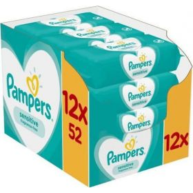 PAMPERS WIPES SENSITIVE 624 ΤΕΜ.