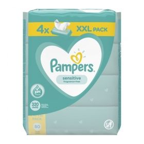 PAMPERS WIPES SENSITIVE 4X80