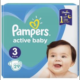 ΠΑΝΕΣ PAMPERS ACTIVE BABY ΜΕΓ 3 (6-10KG) 29 ΠΑΝΕΣ CP