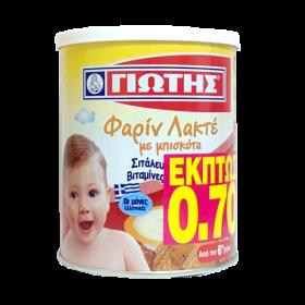 ΓΙΩΤΗΣ ΦΑΡΙΝ ΛΑΚΤΕ ΜΠΙΣΚΟΤΟ 300GR (-0,70€)