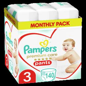 Πάνες Pampers Premium Care Pants Monthly Pack Νο3 (6-10kg)140τεμ