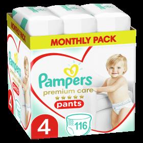 Πάνες Pampers Premium Care Pants Monthly Pack Νο4 (9-15kg)116τεμ