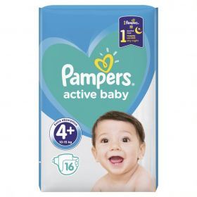 PAMPERS ACTIVE BABY ΜΕΓ 4+, 16 ΤΕΜ
